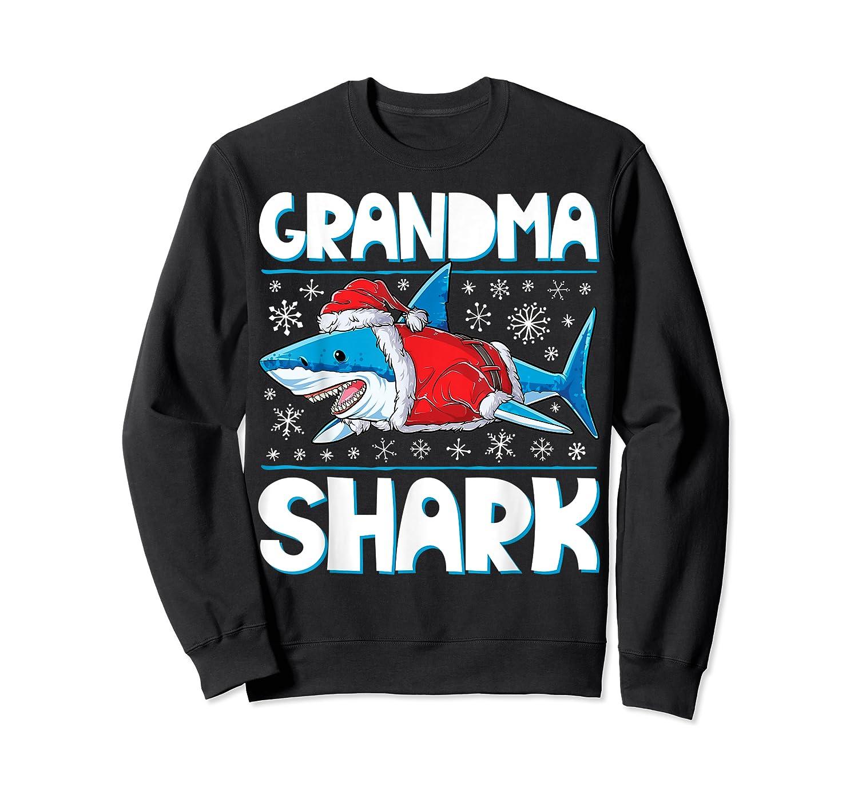 Grandma Shark Santa Christmas Family Matching S Shirts Crewneck Sweater