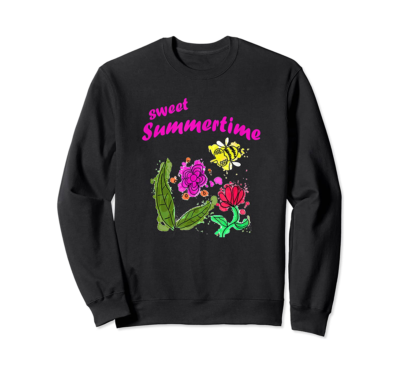 Sunshine, Flowers And Honey Bees Shirts Crewneck Sweater