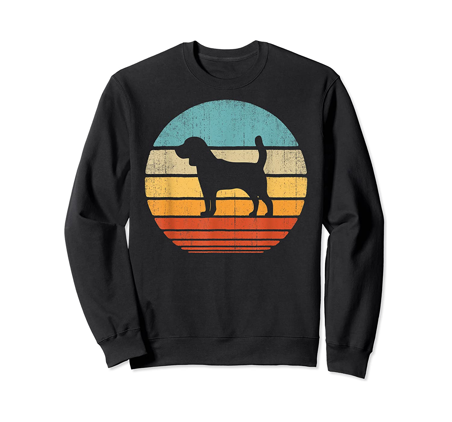 Beagle Retro Vintage Style 60s 70s Gifts Dog Lover Shirts Crewneck Sweater