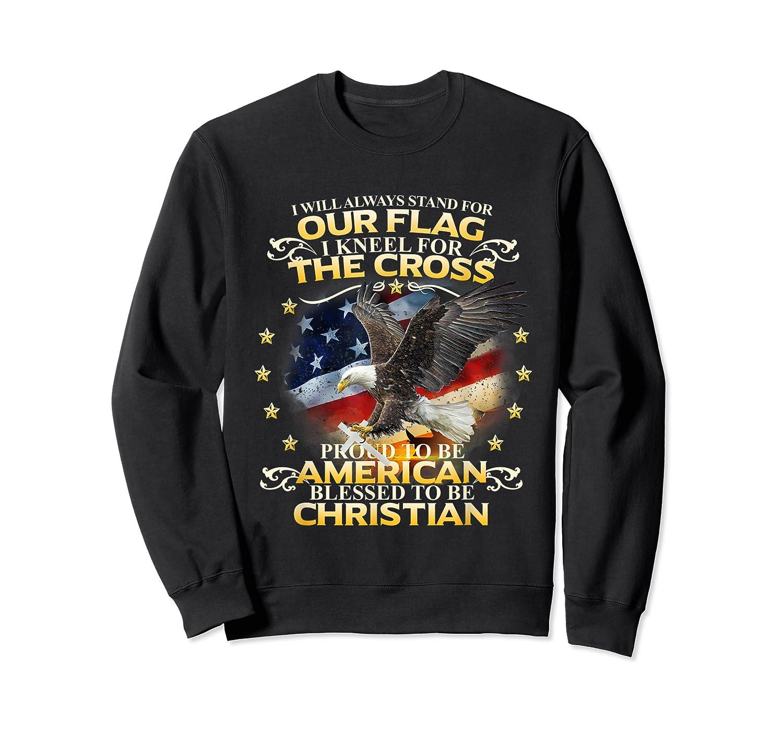 Christian Patriotic American Flag Shirts Crewneck Sweater