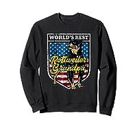 Worlds Best Rottweiler Grandpa Shirts Sweatshirt Black