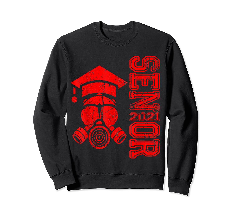 Vintage Senior 2021 Face Mask Quarantined Class Of 2021 Shirts Crewneck Sweater