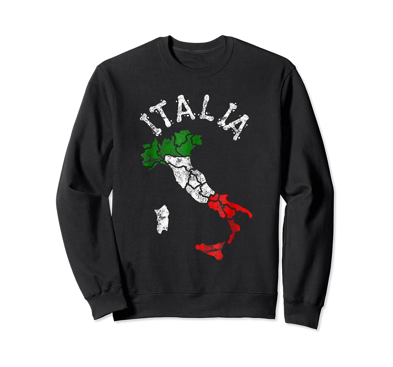 Italia Italian Flag Italy Shirts Crewneck Sweater