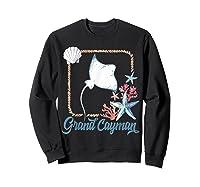 Grand Cayman Islands Turtle Tuna Stingray Blue Souvenir Gift T-shirt Sweatshirt Black