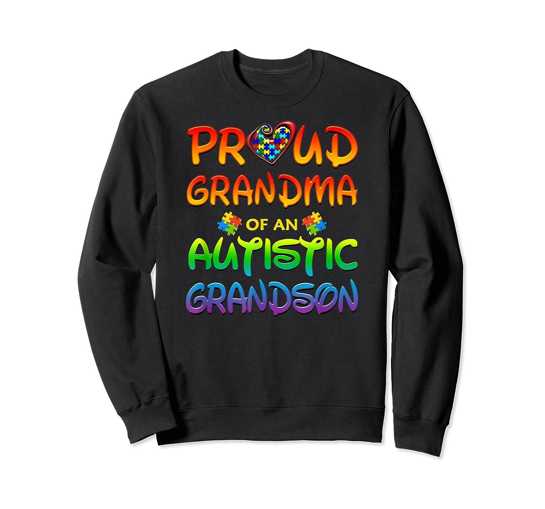 Autism Awareness Proud Grandma Of Autistic Grandson Shirts Crewneck Sweater