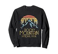 Vintage Rocky Mountains National Park Colorado Retro Shirts Sweatshirt Black