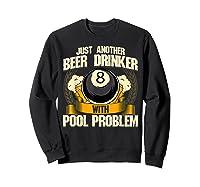 Beer Billiards For Pool Hall Pub With Mugs Suds Shirts Sweatshirt Black