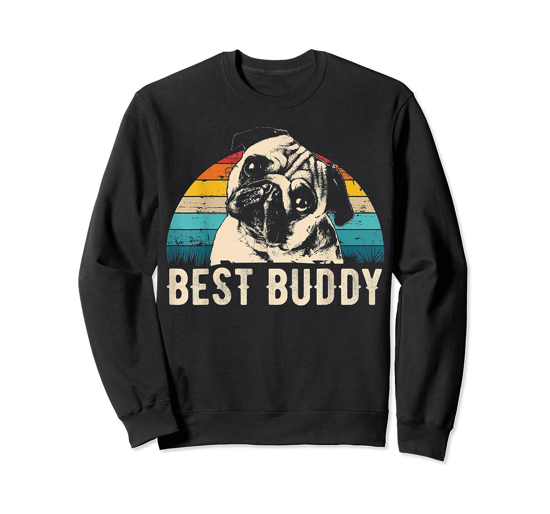 Retro Pug Gift Shirts Crewneck Sweater
