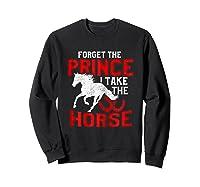 Rider Prefers Horses Shirts Sweatshirt Black