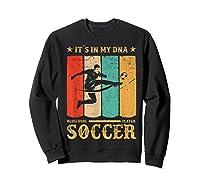 Retro Vintage Soccer Design 1970s T-shirt Sweatshirt Black