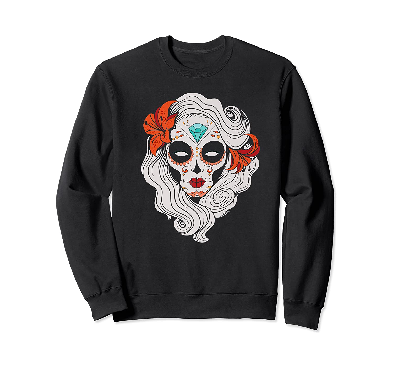 Sugar Skull Dia De Los Muertos Halloween Horror Premium T-shirt Crewneck Sweater