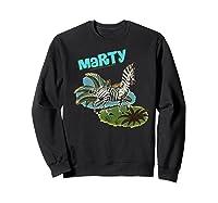Madagascar Marty Painted Grass Poster Premium T-shirt Sweatshirt Black