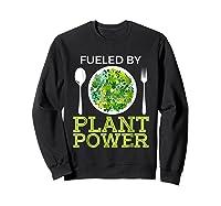 Fueled By Plant Power Vegetarian Shirts Sweatshirt Black