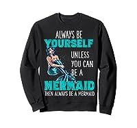 Cute Mermaid Gifts N Girls Mermaids Lover Gift Daughter Shirts Sweatshirt Black