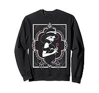 Disney Aladdin Jasmine Ornate Frame Rose Graphic T-shirt Sweatshirt Black