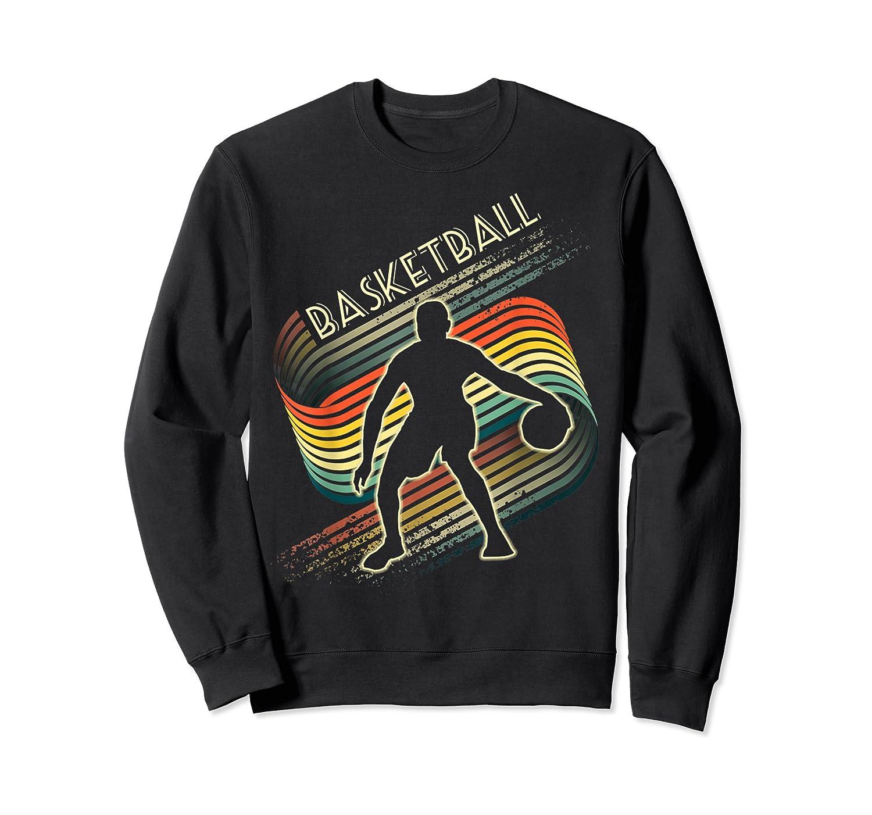 Vintage Retro Basketball Shirt Colorful Tshirt Crewneck Sweater