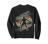 Vintage Retro Basketball Shirt Colorful Tshirt Sweatshirt Black