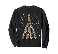 Dabbing Kangaroo Christmas Dab Christmas Tree Shirts Sweatshirt Black