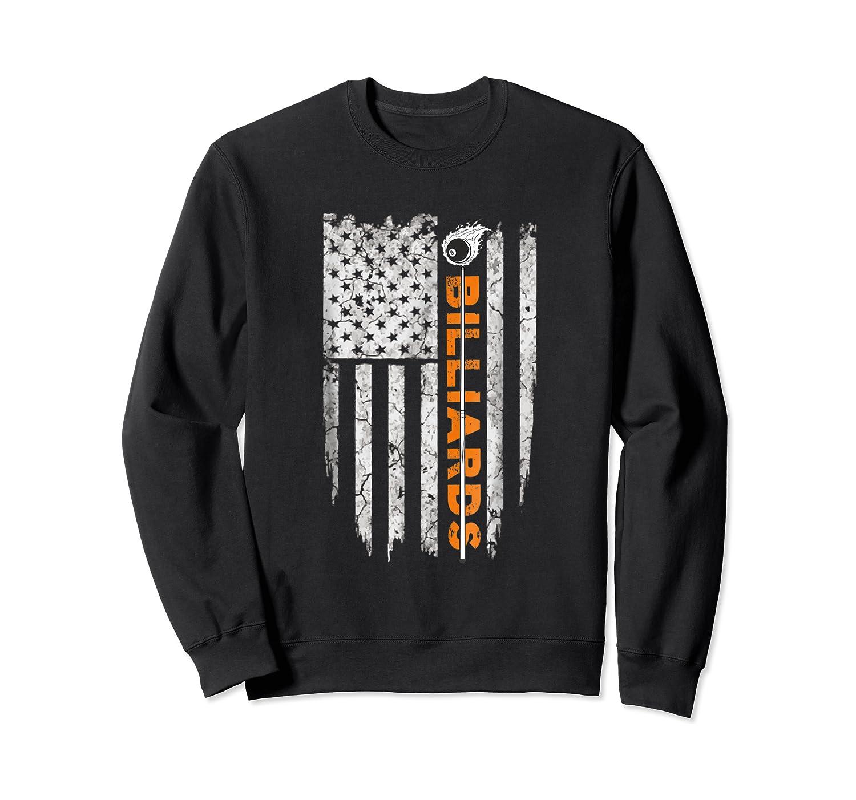 Billiards American Flag T-shirt Billiard Ts Crewneck Sweater