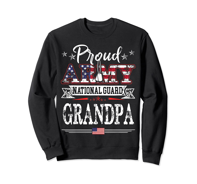 Proud Army National Guard Grandpa T-shirt U.s. Military Gift T-shirt Crewneck Sweater