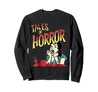 Vintage Horror Movie Poster Funny Halloween Shirts Sweatshirt Black