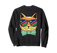 Namibia Flag Namibia Cat Sunglasses Shirt Sweatshirt Black