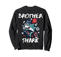 Brother Shark Doo Doo Bro Fun Uncle Birthday Gift Idea Shirts Sweatshirt Black