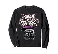 Back To School (in Purple) T-shirt Sweatshirt Black