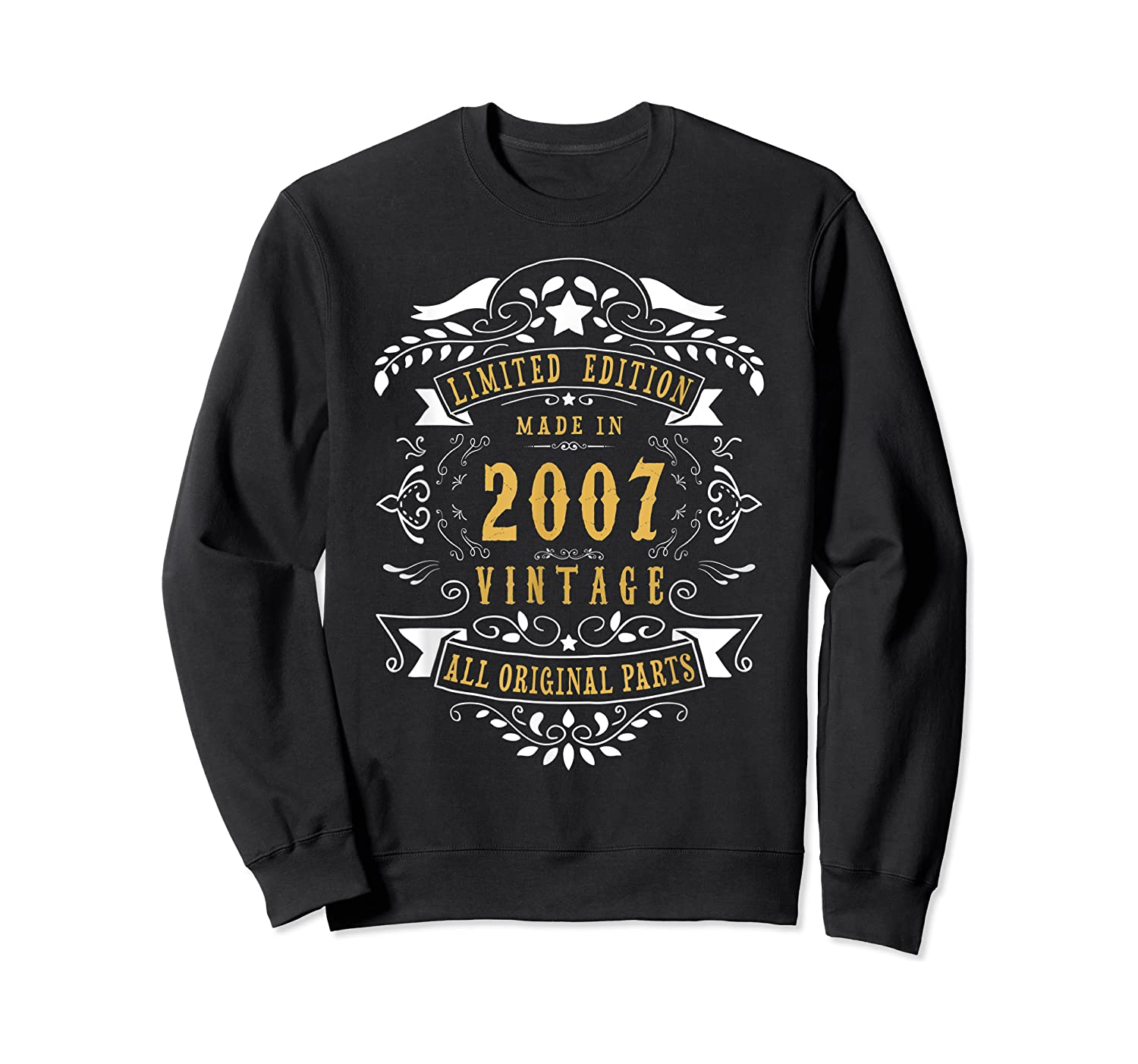 13 Years Old Made In 2007 13th Birthday, Anniversary Gift Shirts Crewneck Sweater