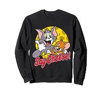 Tom And Jerry Say Cheese Portrait Shirts Sweatshirt Black
