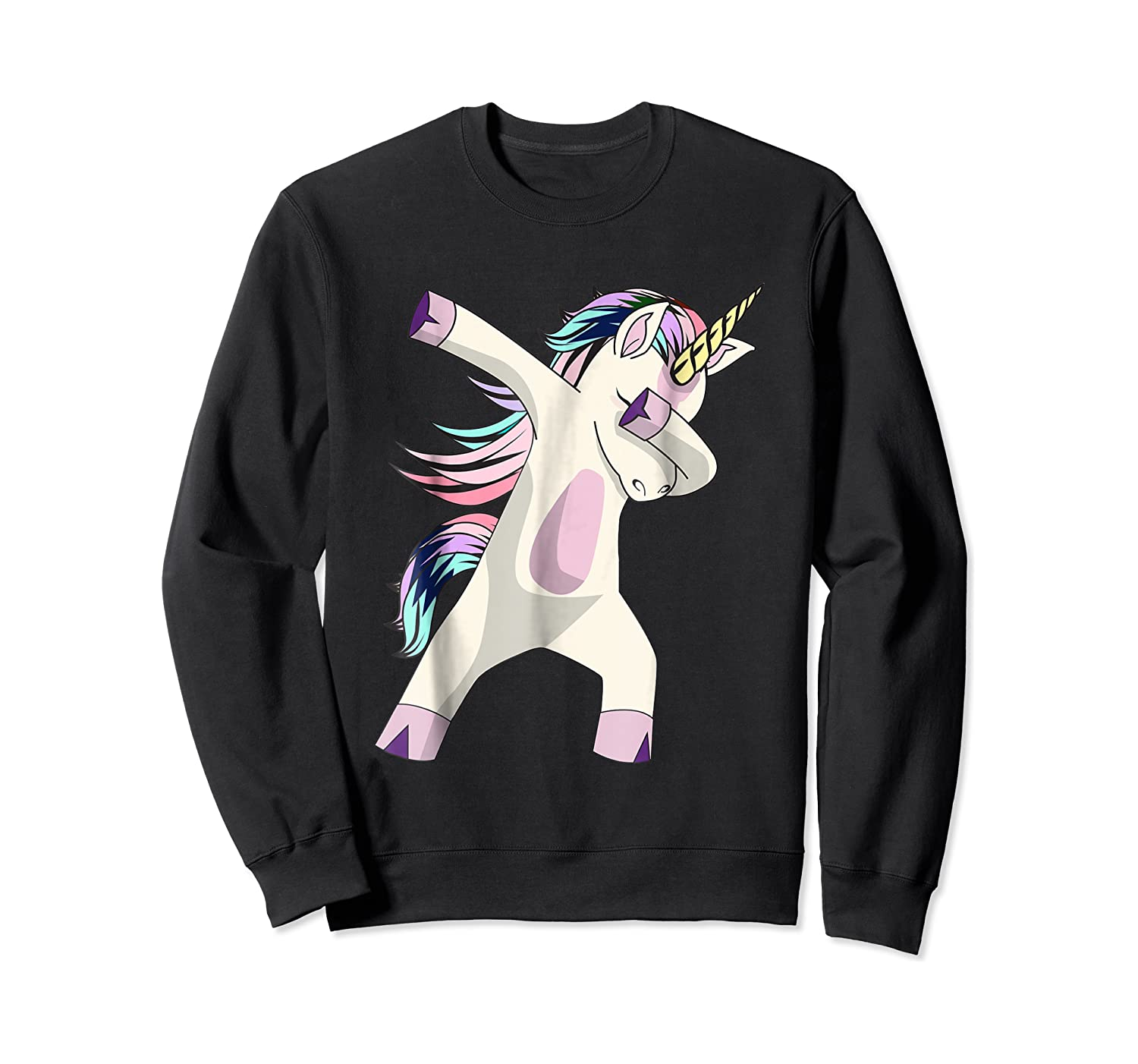 Dabbing Unicorn For Daughter Son Granddaughter Daddy Shirts Crewneck Sweater
