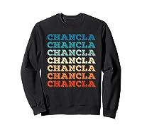 Funny Mexican Mom Gift Chancla T-shirt Sweatshirt Black