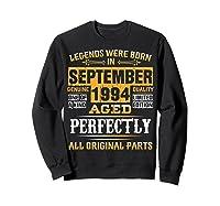 Vintage September 1994 Birthday Gift For 25 Yrs Old D1 Shirts Sweatshirt Black