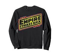 Star Wars The Empire Strikes Back Vintage Logo T-shirt Sweatshirt Black