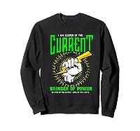 Funny Electrician Gift Electrical Engineer Lineman T-shirt Sweatshirt Black