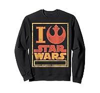 S Rebel Alliance Love Shirts Sweatshirt Black