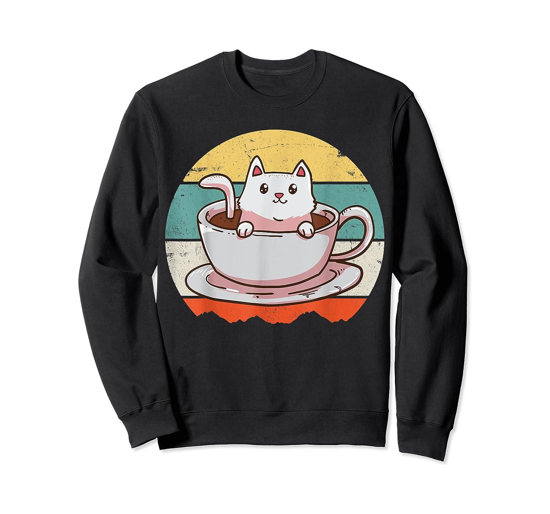 Coffee Cats Retro Vintage Gift T-shirt Crewneck Sweater