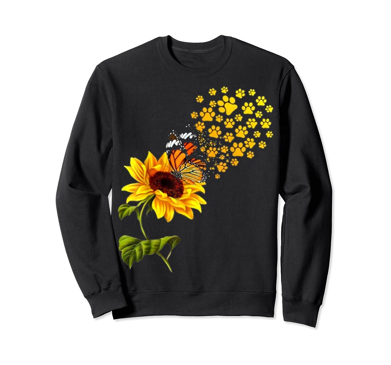 Dog Paw Sunflower You Are My Sunshine T-shirt Crewneck Sweater