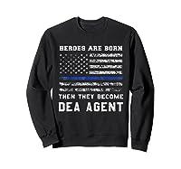 Agent Hero Born As An Officer Thin Blue Line Shirts Sweatshirt Black
