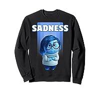Pixar Inside Out Sadness Portrait Shirts Sweatshirt Black