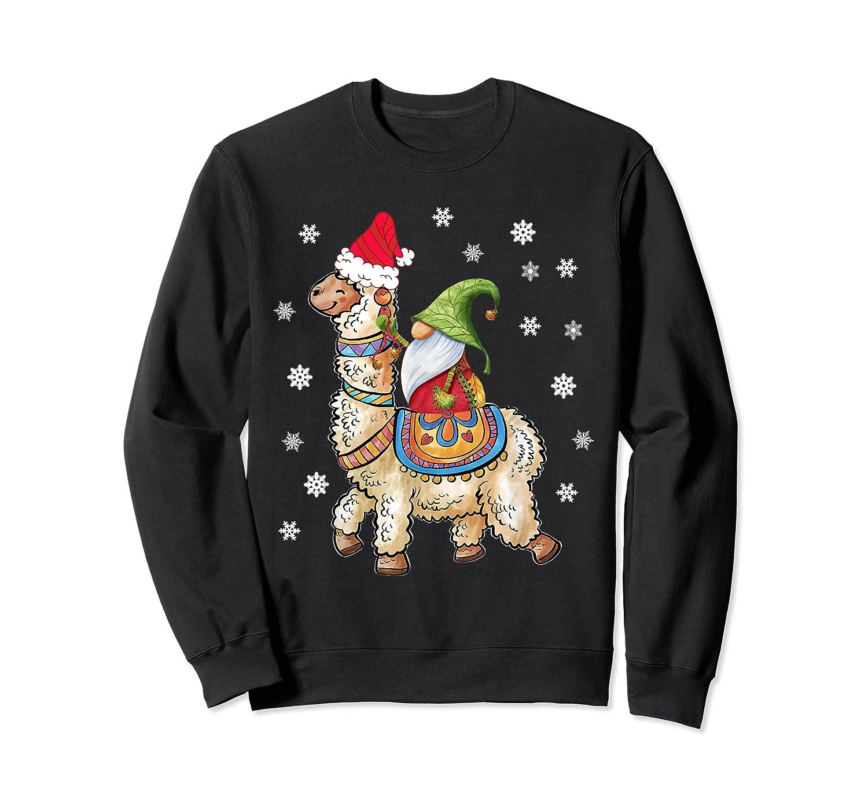 Santa Hat Christmas - Santa Gnome T-shirt Crewneck Sweater