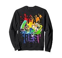 Splatoon Pride Stay Fresh Rainbow Paint Splat Shirts Sweatshirt Black