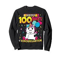 Unicorn Happy 100 Days School Kindergarten Girls Gift Shirts Sweatshirt Black