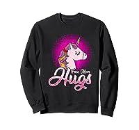Free Mom Hugs Rainbow Lgbt Pride Unicorn T-shirt Gift Sweatshirt Black