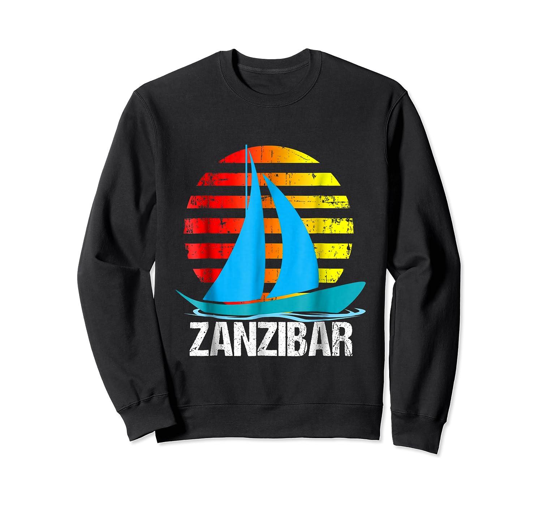 Zanzibar Sailing T-shirt Sunset Sailboat Vacation Gift Crewneck Sweater
