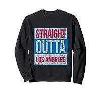 Straight Outta Los Angeles Basketball Shirts Sweatshirt Black