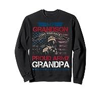 My Grandson Has Your Back Proud Army Grandpa Gift Shirts Sweatshirt Black