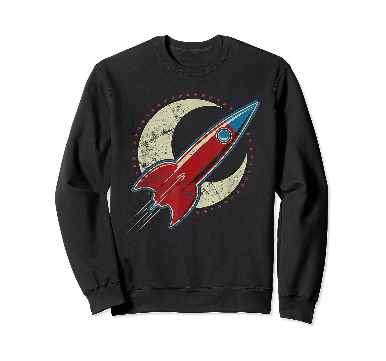 Retro Red Rocket T-shirt Crewneck Sweater