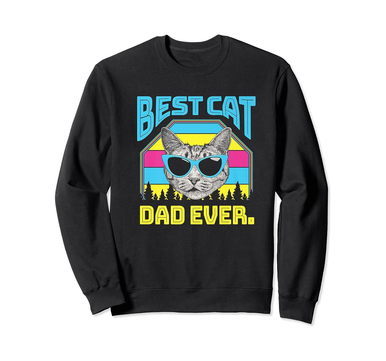 S Best Cat Dad Ever Cat Daddy Gift Premium T-shirt Crewneck Sweater