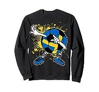 Dabbing Sweden Soccer Tshirt For Football Tee Sweatshirt Black